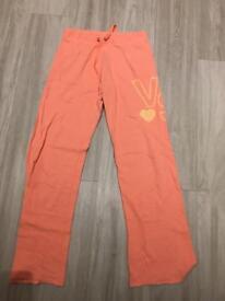 Victoria secret loose fitting joggers pink peach sequins detail vs