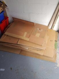10 large and medium boxes. Free to collect.