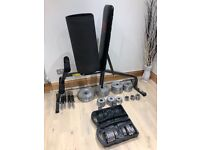 Weights and work bench