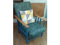 Arts and craft oak armchair