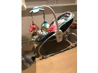 Baby Crib and 2 bouncers for sale
