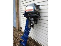 Yamaha 20 outboard engine, fishing boat day boat.