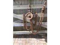 Block & Tackle Lifting Hoist THIS ITEM HAS NOW BEEN SOLD
