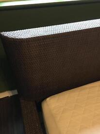 IKEA rattan double bed - Dark Brown