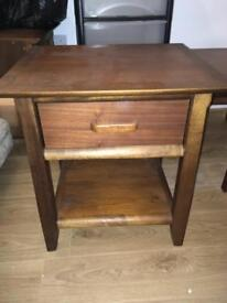 Beautiful walnut - solid wood side tables x2