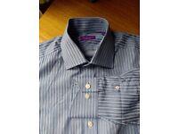 """William Hunt (Savile Row) 15"""" collar, regular fit"""