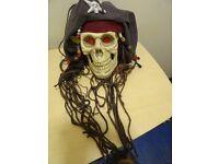 Hanging Pirate Skull