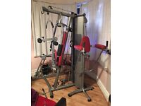 BH Fitness Global Home Multi Gym Leg Press & Dipping Tower 100kg Weight Stack