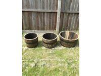 Whisky Barrel Planter Set of 3