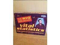 "Big Breakfast ""Vital Statistics"" game. Collectors item - unused, pack of cards still sealed."