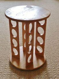 Wooden Revolving Spice Rack / Holder Holds 16 Herb Spice Seasoning Jars