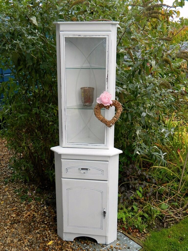 Shabby Chic corner unit dresser display cabinet
