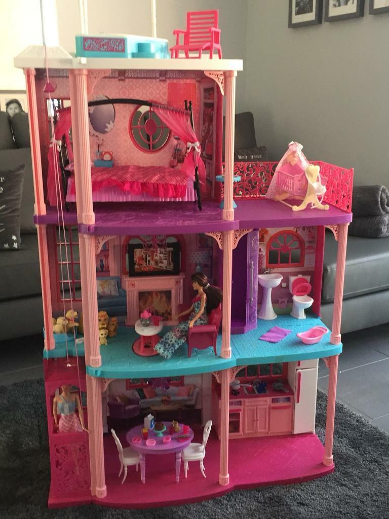 Large Barbie Dolls House With Elevator And Sound Effects In Arnold