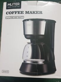 MLITER Filter Coffee Machine 8 Cup Coffee Maker with Anti-drip Function 1.2L Capacity