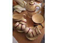 Cream and Gold Tea Set