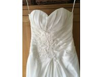 New ivory satin wedding size 12 absolutely beautiful