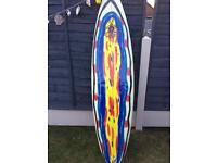 """Hot Buttered 6ft x 7"""" H3 Surf Board, Surfboard, used"""