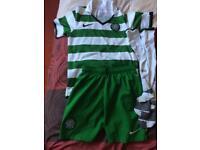 Nike Celtic shirt and Celtic shorts Age 10-12 yrs