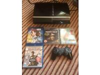 PS3 with games and blu-rays