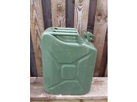 GREEN METAL JERRY CAN 20 LITRES FOR SALE