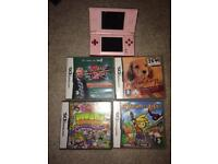 Nintendo pink/red ds lite and games