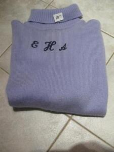 """CLASSY SOFT LILAC ACRYLIC TURTLE NECK SWEATER that will """"KNOCK 'EM DEAD"""""""