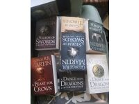 GAME OF THRONES BOOKS 1-7 (Basically untouched/unread)