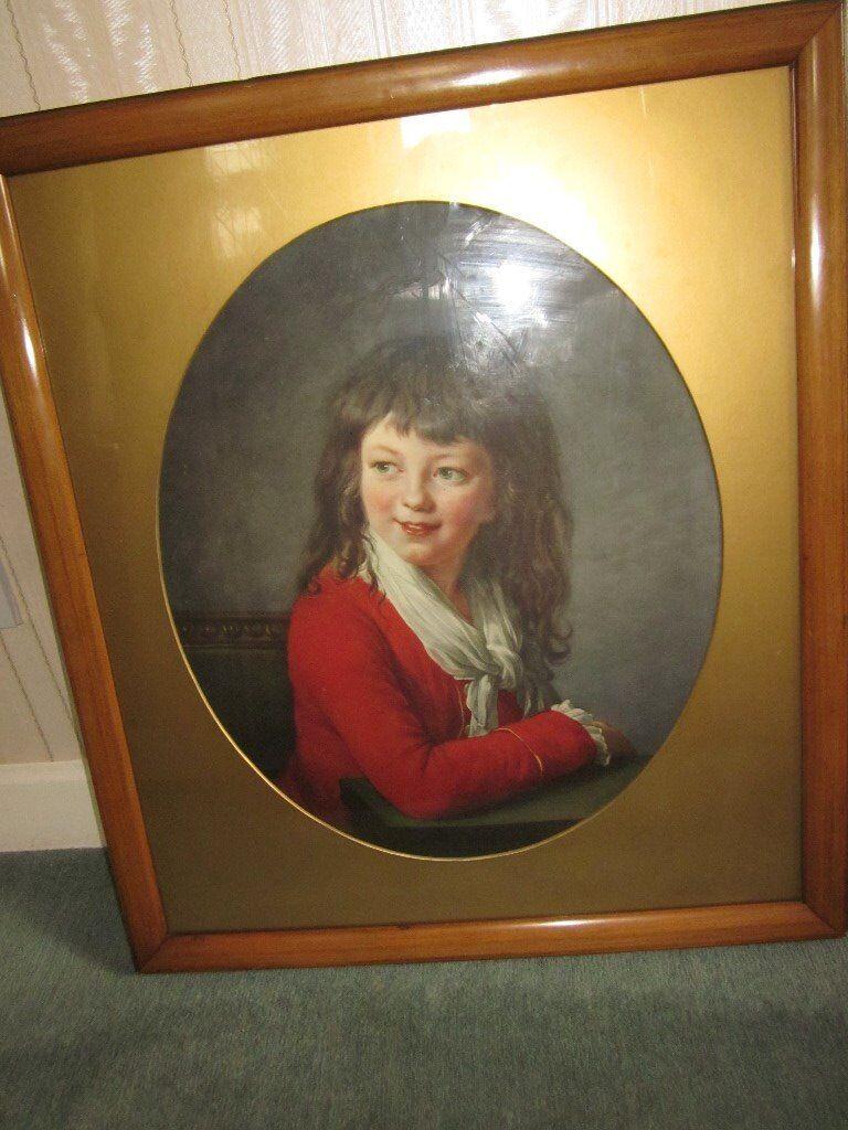 Elizabeth Louise Vigee Le Brun (1755-1842) Boy in Red Painting in Frame