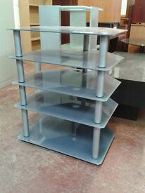 Glass shelving/TV unit