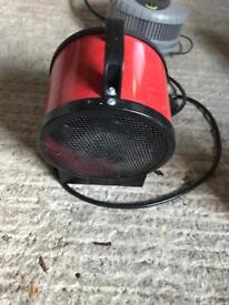 Electric air heater and 2 gang adapters