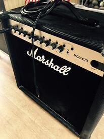 *LIKE NEW* Marshall MG50CFX 50W Guitar Amp Combo. 2 way foot switch