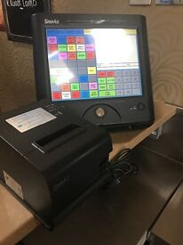 3 X SAM4S SPS-2000 Touch Screen Cash Register and printers