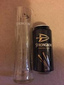 Brand new strongbow pint glass