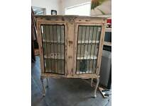 Vintage shabby display cabinet