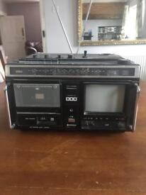 Hitachi Colour Television, Cassette, Radio