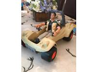 Action man and car toy
