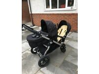 Baby Jogger City Select Twin with Two seats, Baby Carrycot & Footmuff