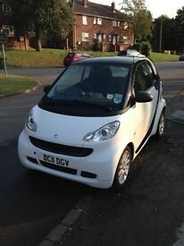 White Smart Car - low mileage. Quick sale required