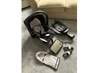 Car seat, isofix base & extras