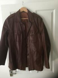 "70s ""Pimp"" leather jacket"