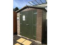 Shed wooden store 6'6 x 3'6