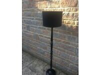 Black free standing lamp