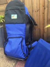VauDe baby carrier with sunshade