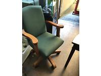 Pine office chair