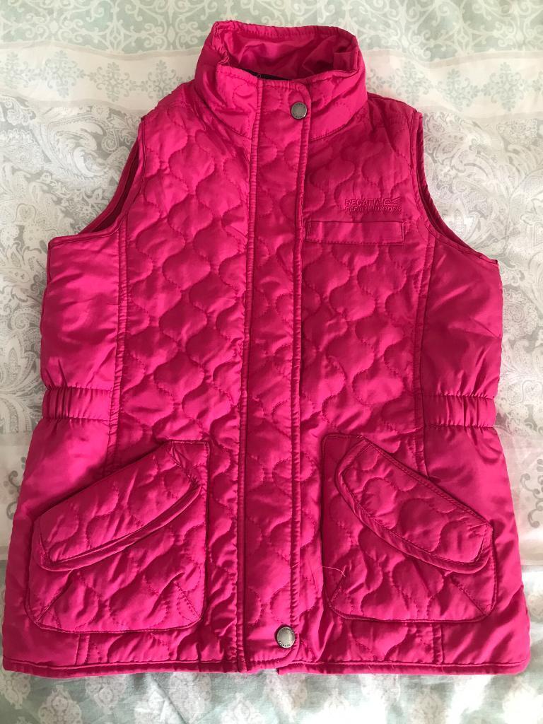 Girls pink regatta body warmer 9-10 years