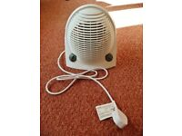 White RS Pro FH-502 1700-2000W Upright Floor Fan Heater Adjustable Thermostat & Summer Service Fan