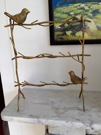 Pretty good bird jewellery holder,stand.Branches& twigs.nature.Metal.Vintage style.Necklace,earrings