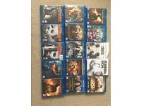 13 BluRay DVDS and 2 DVDS