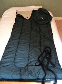LLBean Camp Sleeping Bag, Flannel-Lined 40°F Hunter Green. A classic! RRP£70+ from USA