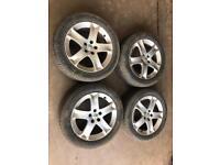 """Peugeot 17"""" alloy wheels. 215/55/17 Tyres"""